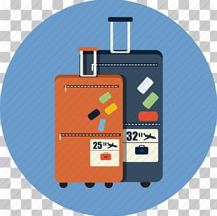 Baggage Computer Icons Package Tour Travel Hotel PNG
