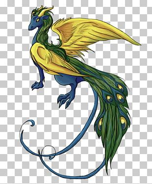Peafowl Dragon Bird Feather PNG