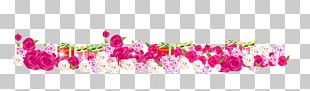 Purple Pink Flower Gift PNG