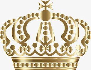 Crown Metallic Gradient PNG