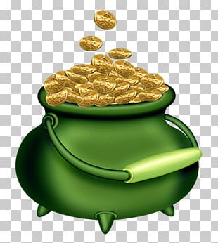 Ireland Saint Patricks Day Gold Leprechaun PNG