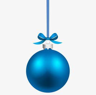 Blue Christmas Ball Creative PNG