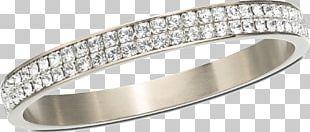 Silver Circle Diamonds Ring Jewelry PNG