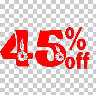 Spring Sale 45% Off Discount Tag. PNG