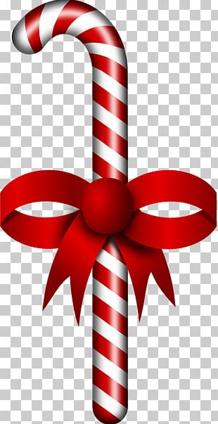 Candy Cane Stick Candy Ribbon Candy Christmas PNG