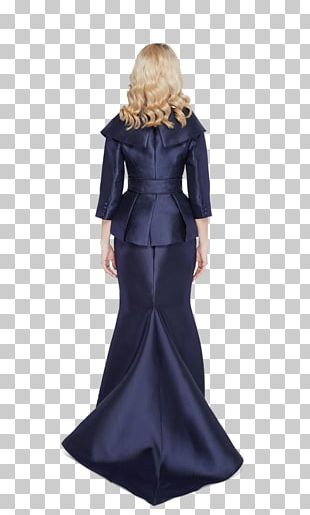 Gown Jacket Dress Costume Design Navy Blue PNG