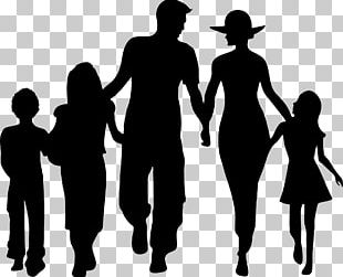 Family Silhouette Child PNG