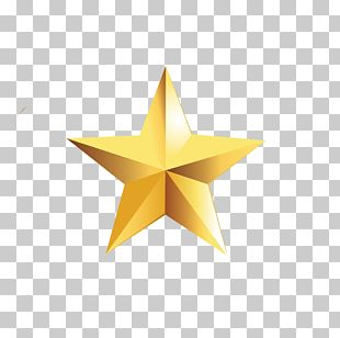 Star Polygon Pentagram Gold Yellow PNG