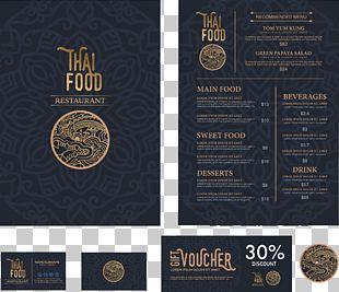 Thai Cuisine Menu Restaurant Bistro PNG
