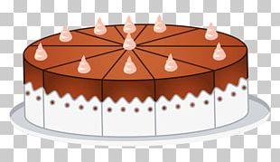 Birthday Cake Cupcake Chocolate Cake Milk Cream PNG