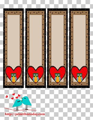 Paper Bookmark Valentine's Day Heart PNG
