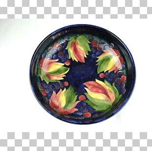 Moorcroft Plate Ceramic Pottery Bowl PNG