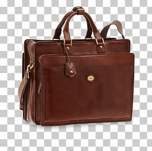Briefcase Leather Tote Bag Hand Luggage PNG