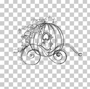 Cinderella Carriage Drawing Pumpkin Sketch PNG
