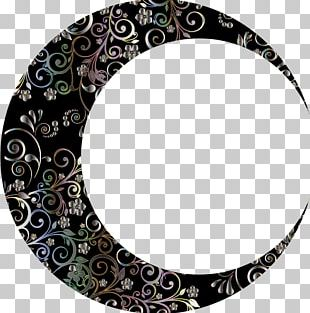 Crescent Lunar Phase Moon Art Drawing PNG