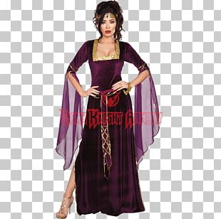 Halloween Costume Dress Woman Middle Ages PNG