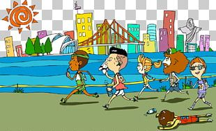 Running Racing Illustration PNG