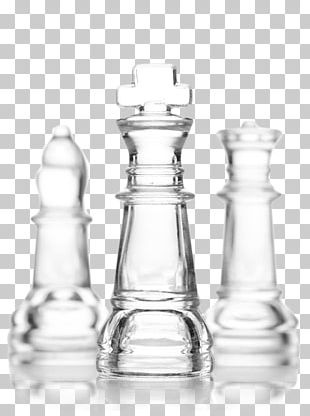 Chess Piece Board Game White And Black In Chess Glass PNG