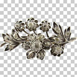 Brooch Jewellery Silver Gold Diamond Cut PNG