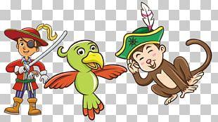Jumping Boy Piracy Cartoon Illustration PNG