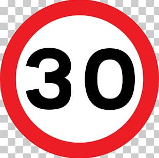 Traffic Sign The Highway Code Speed Limit Road 30 Km/h Zone PNG