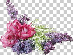 Cut Flowers Floral Design Common Lilac Flower Bouquet PNG