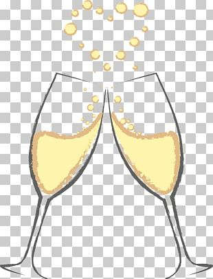 Champagne Glass Sparkling Wine Wine Glass PNG