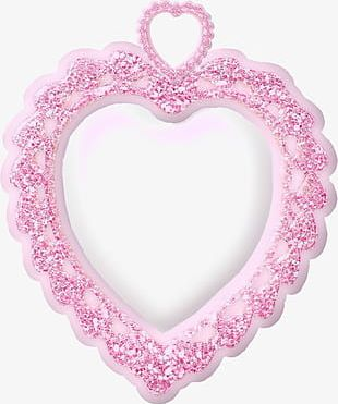 Pretty Pink Heart Frame PNG