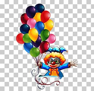 Clown Cartoon Balloon PNG