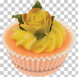 Buttercream Petit Four Cupcake Praline Flavor PNG