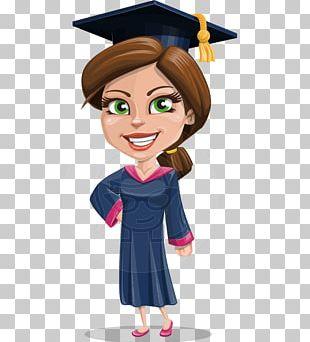 Cartoon Graduation Ceremony Graduate University PNG