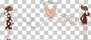 Falling In Love Girlfriend Illustration PNG
