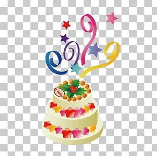 Birthday Cake Sugar Cake Torte PNG
