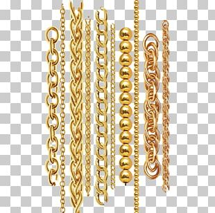 Chain Gold Necklace Metal PNG