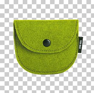 Coin Purse Green Button Handbag PNG