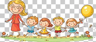 Child Teacher Cartoon Kindergarten PNG