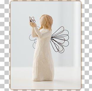 Willow Tree Figurine Angel Sculpture Flower PNG