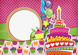 Fun Birthday Frames PNG