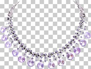 Necklace Jewellery Amethyst PNG