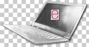Netbook Computer Black And White PNG