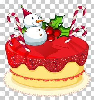 Christmas Cake Birthday Cake PNG