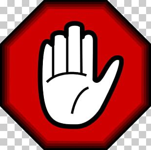 Hand Stop Sign Symbol PNG