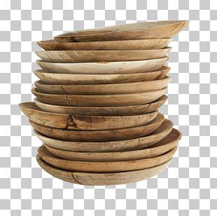MUUBS Plate Lid Teak Bowl PNG