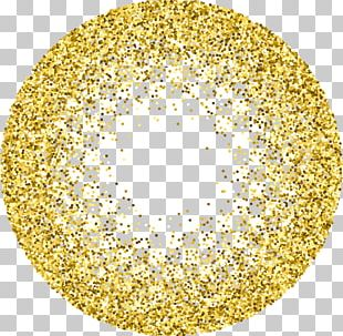 Gold Glitter Stock Photography Circle PNG