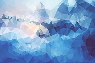 Blues Abstract Background Big Lingge PNG