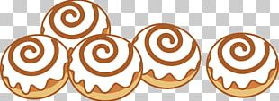 Cinnamon Roll Hamburger Icing Small Bread PNG