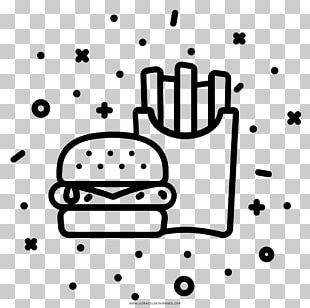 Fast Food French Fries Junk Food Coloring Book Hamburger PNG