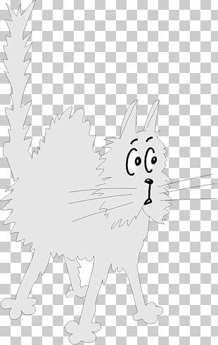 Whiskers Cat Hare Sketch Illustration PNG