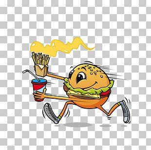 Hamburger Fast Food Hot Dog French Fries PNG