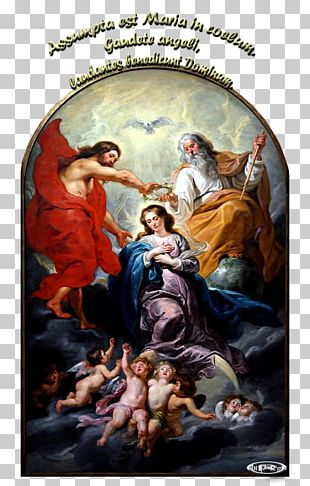 Painting Coronation Of The Virgin Queen Of Heaven Christianity Ave Maria PNG